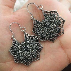 Bohemian Flower Hoop Earrings
